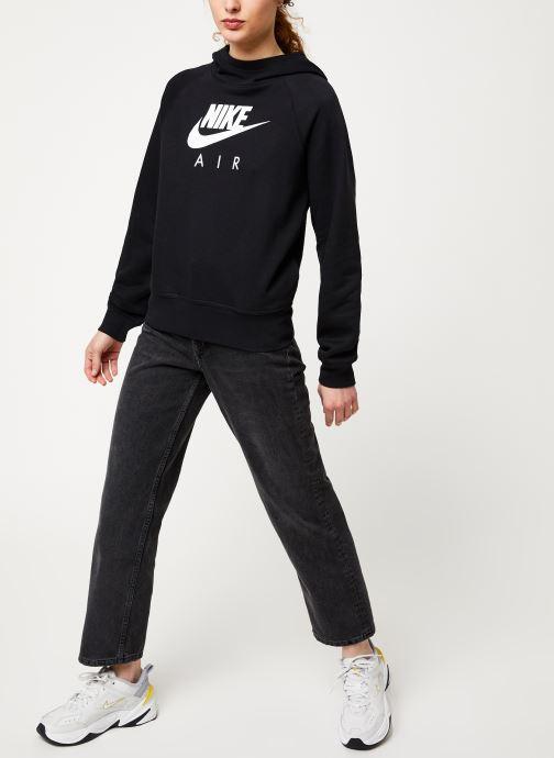 Vêtements Nike W Nsw Air Hoodie Bb Noir vue bas / vue portée sac