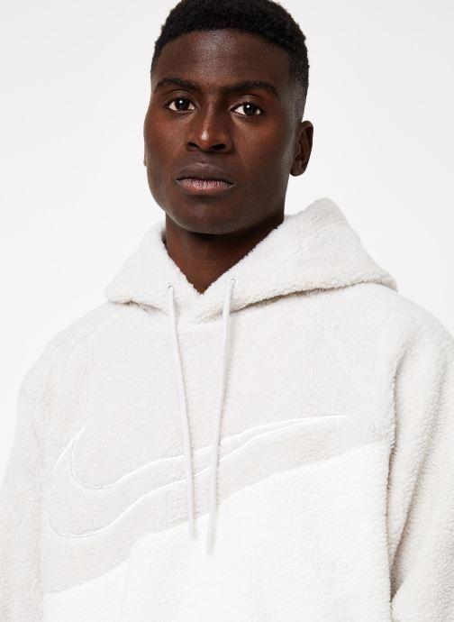 Vêtements Nike M Nsw Swoosh Hoodie Po Ssnl Gris vue face