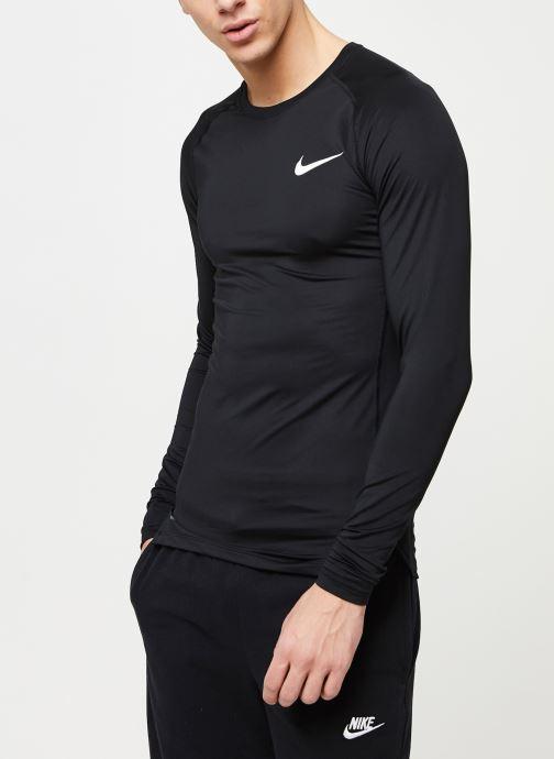 Nike T shirt M Np Top Ls Tight (Noir) Vêtements chez