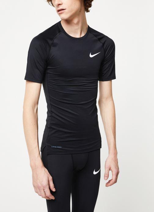 Vêtements Nike M Np Top Ss Tight Noir vue détail/paire