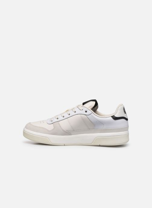 Baskets Fred Perry B300 LEATHER Blanc vue face