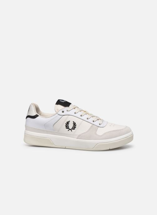 Baskets Fred Perry B300 LEATHER Blanc vue derrière