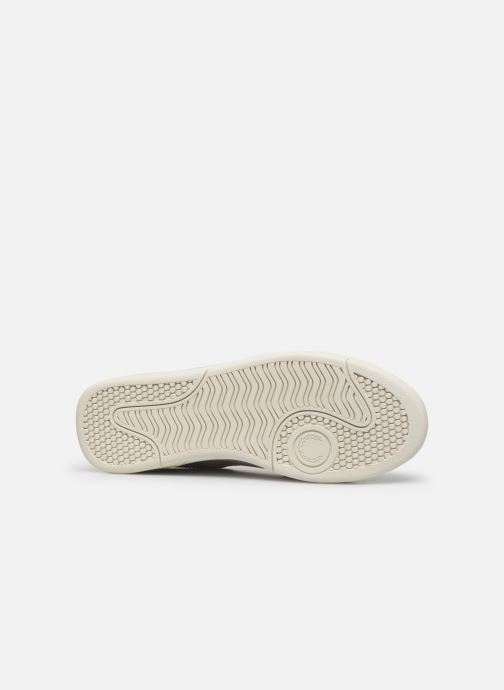 Baskets Fred Perry B300 LEATHER Blanc vue haut