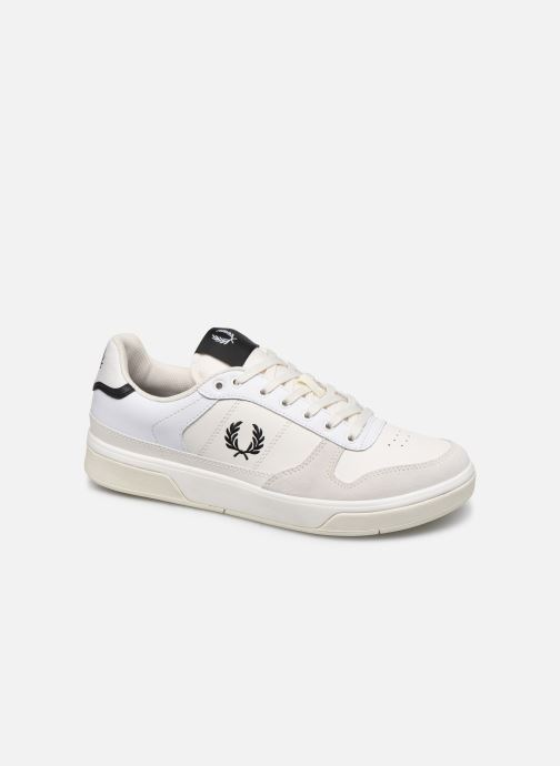 Baskets Fred Perry B300 LEATHER Blanc vue détail/paire