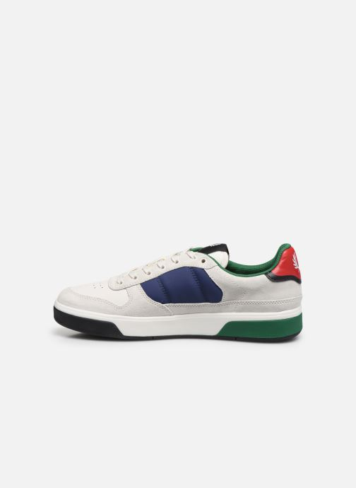 Baskets Fred Perry B300 SUEDE Blanc vue face