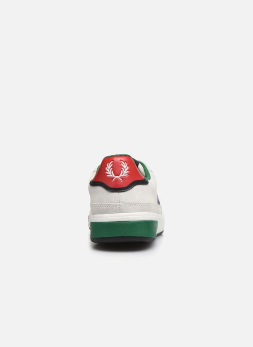 Baskets Fred Perry B300 SUEDE Blanc vue droite