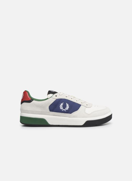 Baskets Fred Perry B300 SUEDE Blanc vue derrière