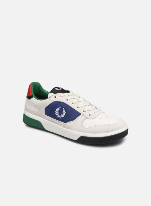 Baskets Fred Perry B300 SUEDE Blanc vue détail/paire
