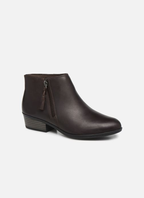 Bottines et boots Clarks Addiy Terri Marron vue détail/paire