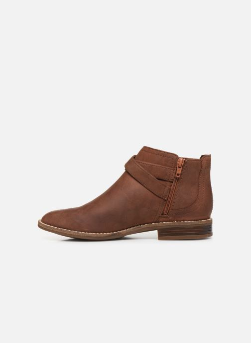 Ankle boots Clarks Camzin Hale Brown front view