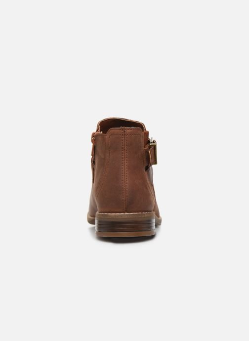 Ankle boots Clarks Camzin Hale Brown view from the right