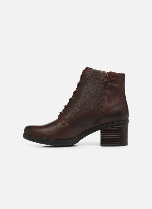 Ankle boots Clarks Hollis Jasmine Brown front view