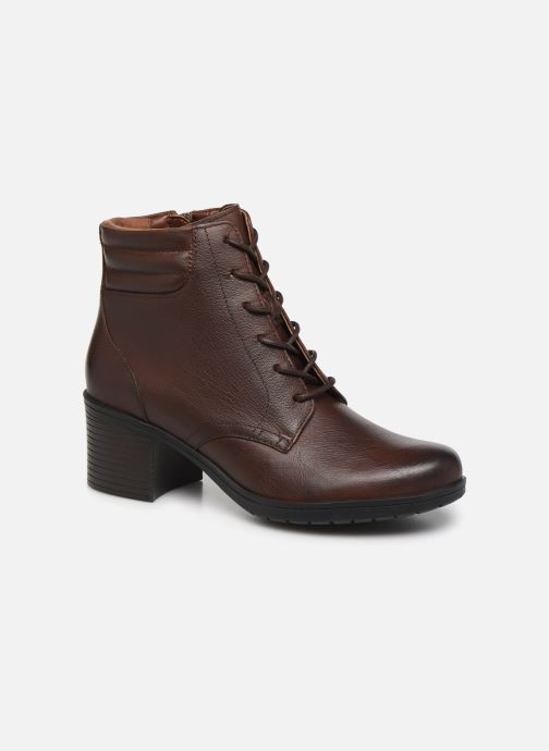 Ankle boots Clarks Hollis Jasmine Brown detailed view/ Pair view