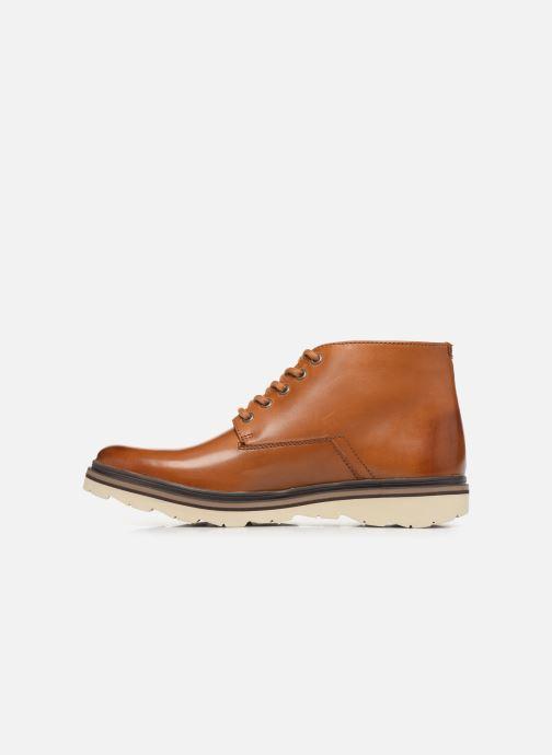 Boots en enkellaarsjes Clarks Frelan Mid Bruin voorkant
