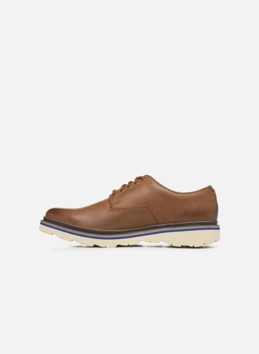 Zapatos con cordones Clarks Frelan Edge Beige vista de frente