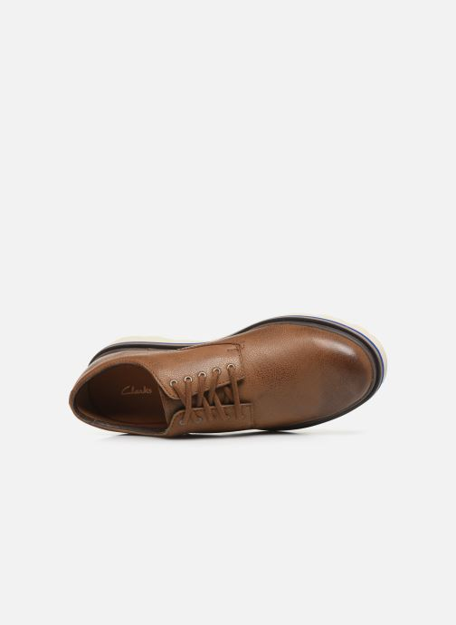 Zapatos con cordones Clarks Frelan Edge Beige vista lateral izquierda