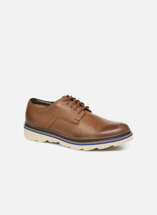 Lace-up shoes Clarks Frelan Edge Beige detailed view/ Pair view