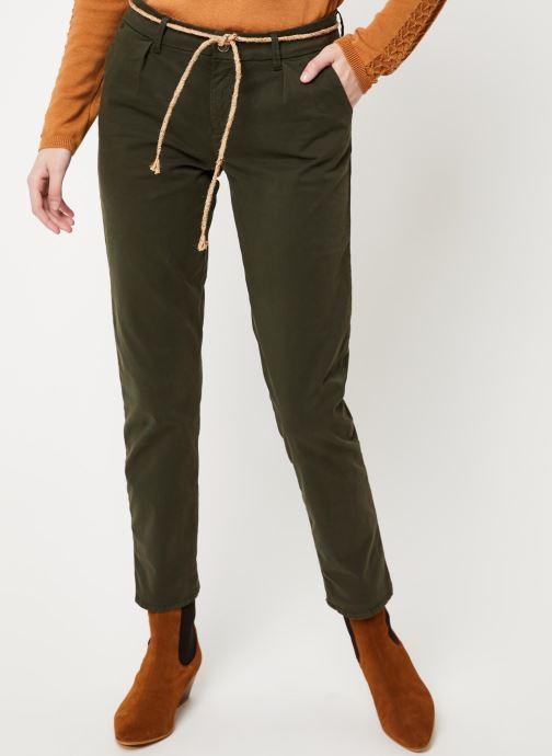 Vêtements Kanopé PANTALON DALHIA TOILE Vert vue détail/paire