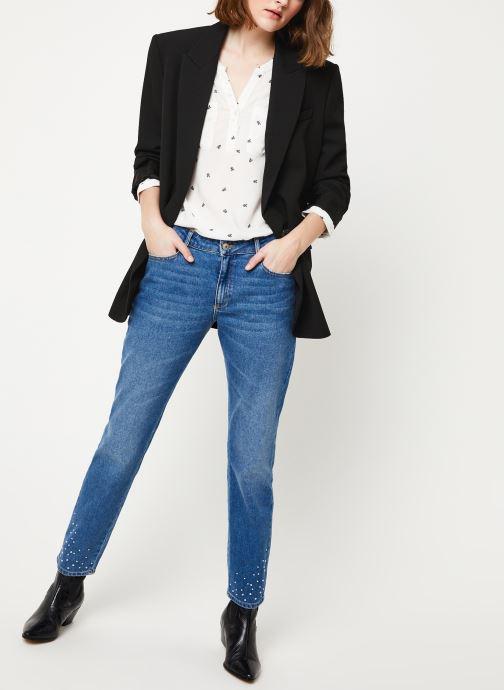 Vêtements Kanopé JEAN SUZANNE DENIM CLOUS Bleu vue bas / vue portée sac