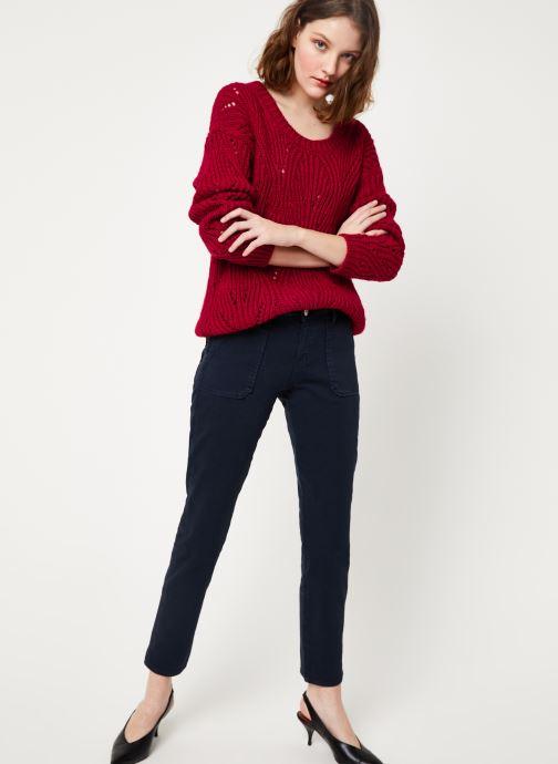 Vêtements Kanopé PULL VIVIANE Rouge vue bas / vue portée sac