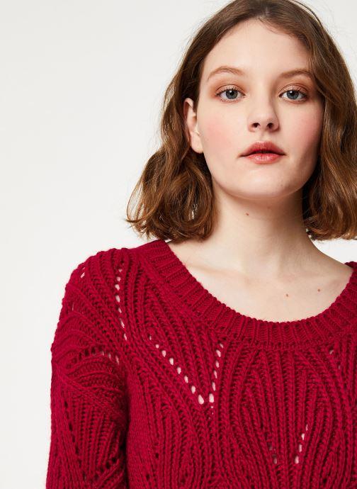 Vêtements Kanopé PULL VIVIANE Rouge vue face