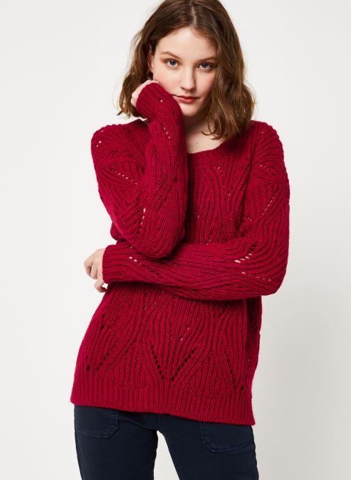 Vêtements Kanopé PULL VIVIANE Rouge vue droite