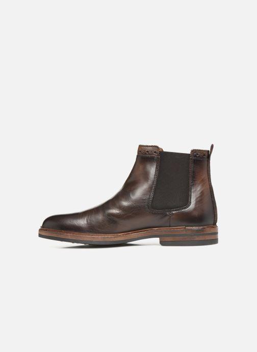 Bottines et boots Sebago Chelsea Fgl Marron vue face