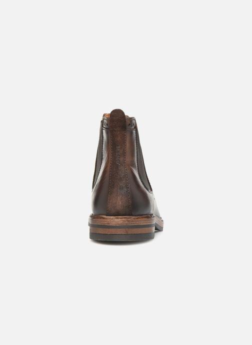 Bottines et boots Sebago Chelsea Fgl Marron vue droite