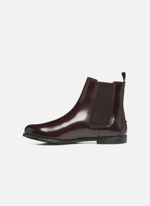Bottines et boots Sebago Chelsea Plaza Bordeaux vue face