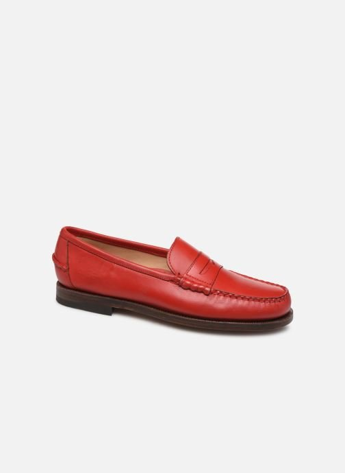 Loafers Sebago Classic Dan Waxy W Red detailed view/ Pair view