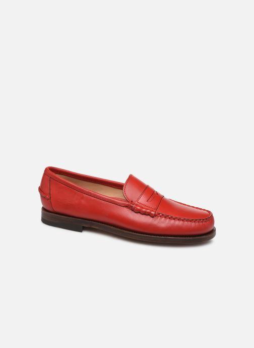 Mocasines Sebago Classic Dan Waxy W Rojo vista de detalle / par