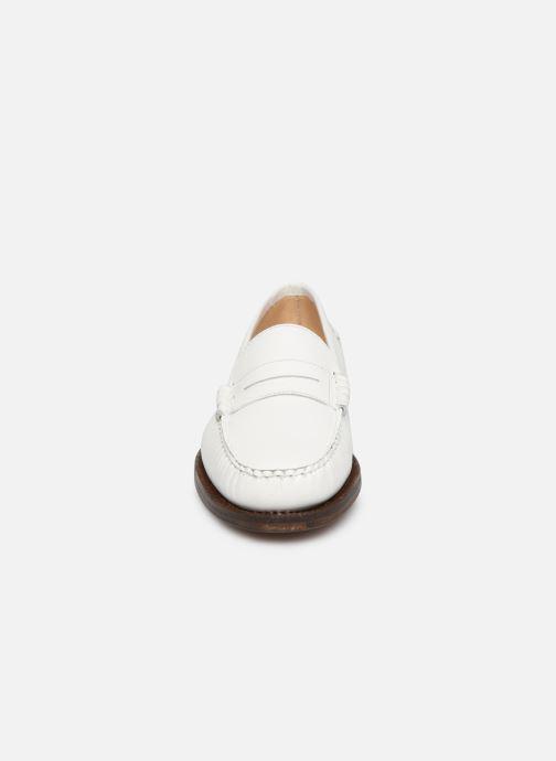 Mocassins Sebago Classic Dan Waxy W Blanc vue portées chaussures