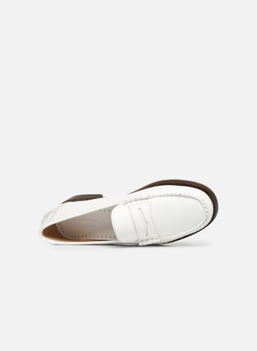 Mocassins Sebago Classic Dan Waxy W Blanc vue gauche
