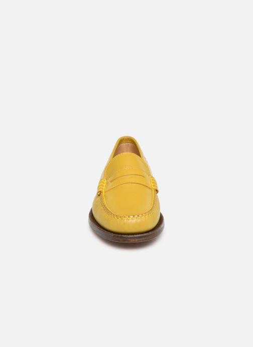 Mocassins Sebago Classic Dan Waxy W Jaune vue portées chaussures