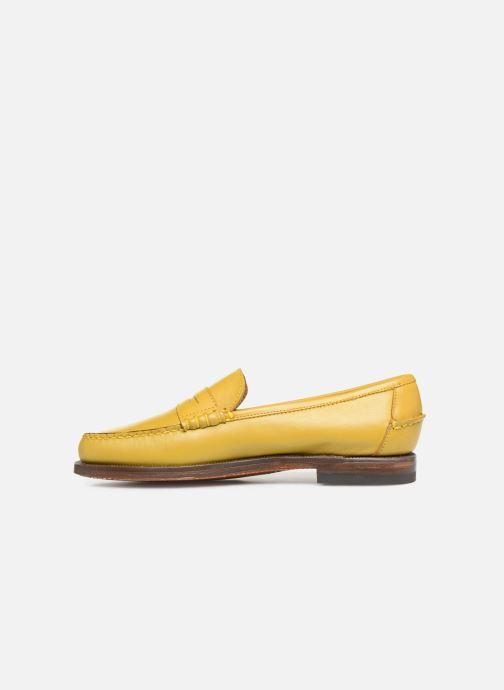 Slipper Sebago Classic Dan Waxy W gelb ansicht von vorne