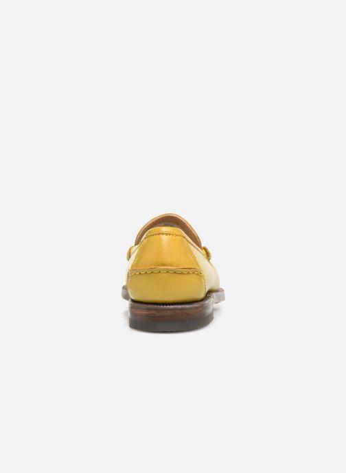 Slipper Sebago Classic Dan Waxy W gelb ansicht von rechts