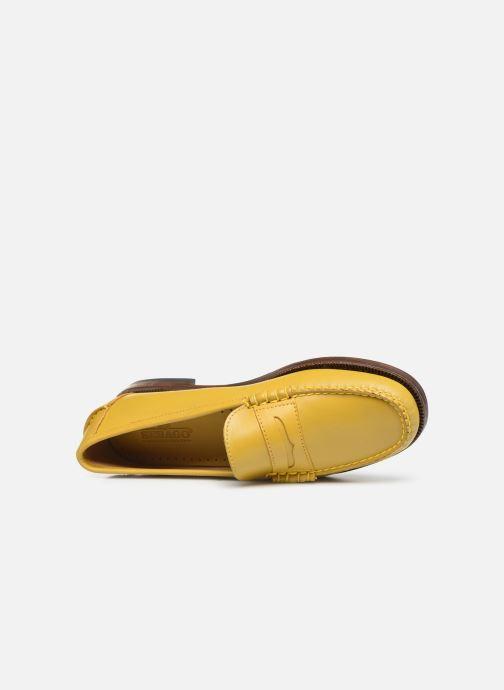 Slipper Sebago Classic Dan Waxy W gelb ansicht von links