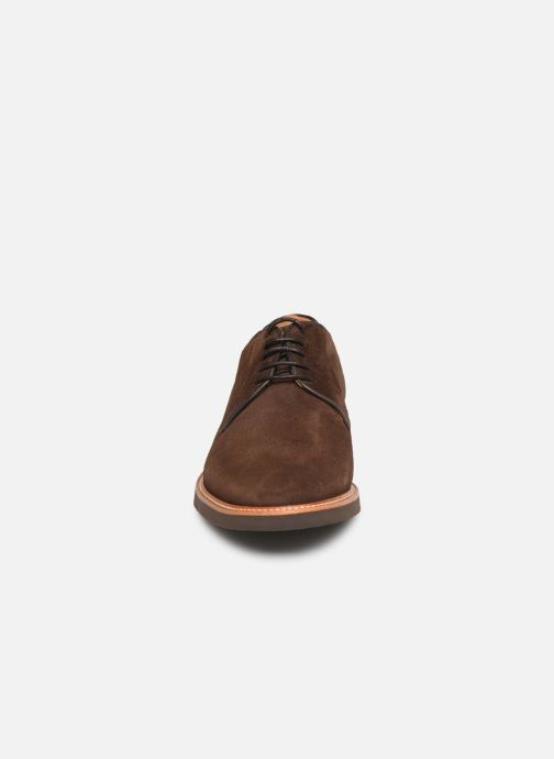 Lace-up shoes Sebago Derby Suede Brown model view