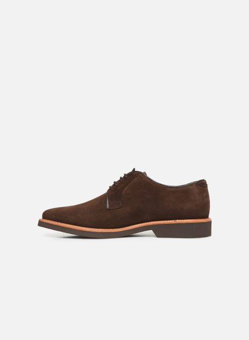 Lace-up shoes Sebago Derby Suede Brown front view
