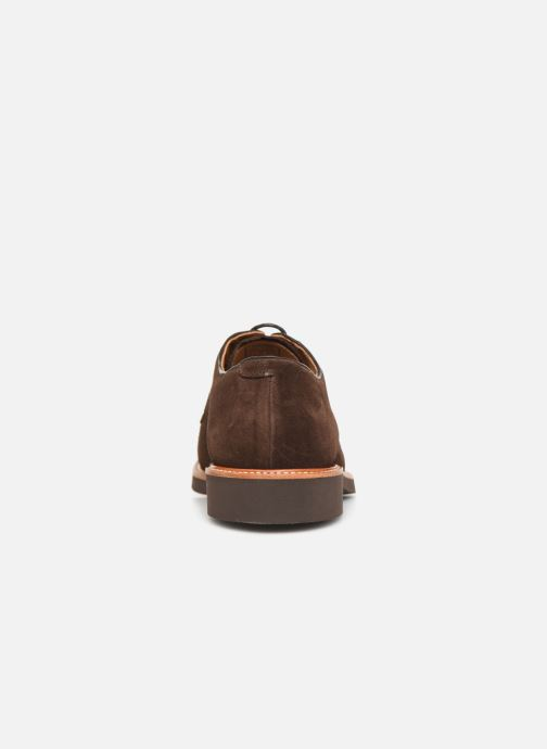 Lace-up shoes Sebago Derby Suede Brown view from the right