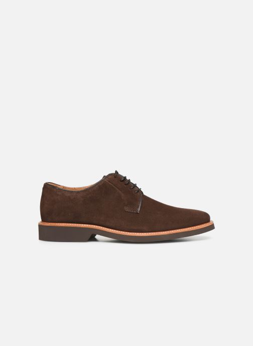 Lace-up shoes Sebago Derby Suede Brown back view