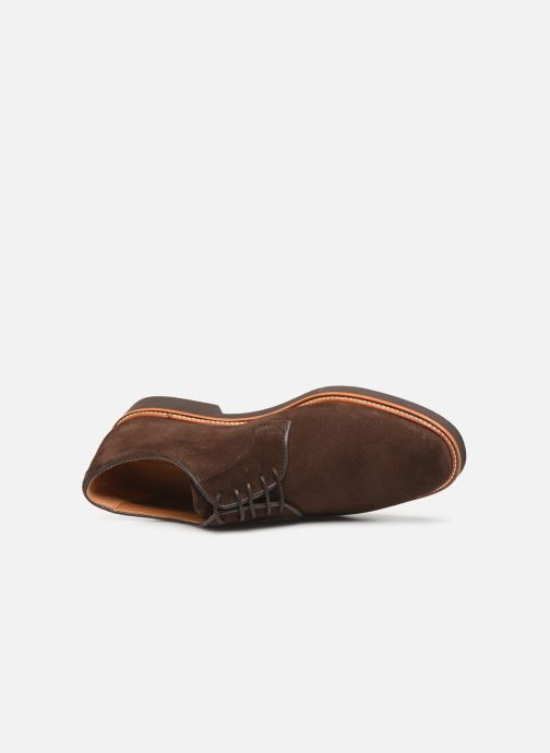 Lace-up shoes Sebago Derby Suede Brown view from the left