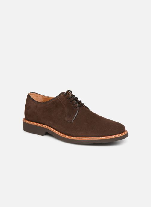 Lace-up shoes Sebago Derby Suede Brown detailed view/ Pair view
