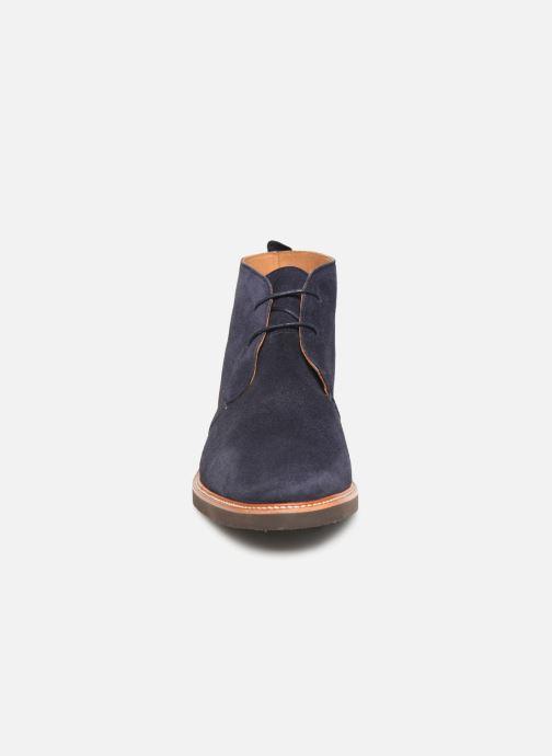 Bottines et boots Sebago Desert Boot Suede Bleu vue portées chaussures