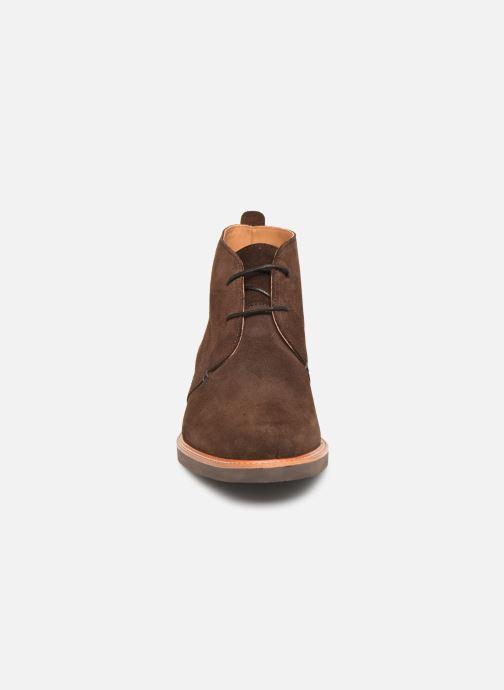 Bottines et boots Sebago Desert Boot Suede Marron vue portées chaussures