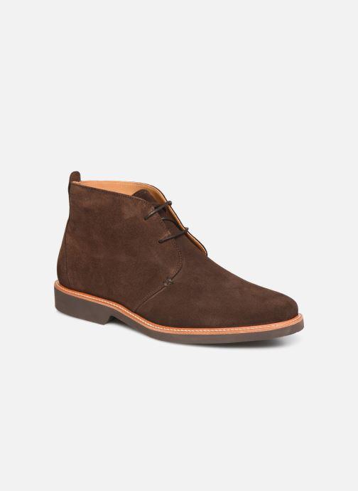Bottines et boots Sebago Desert Boot Suede Marron vue détail/paire