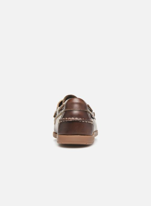 Zapatos con cordones Sebago Endeavor Fgl Marrón vista lateral derecha