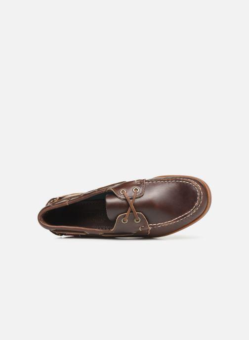 Zapatos con cordones Sebago Endeavor Fgl Marrón vista lateral izquierda