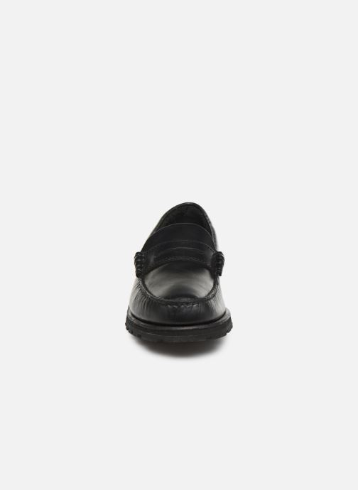 Slipper Sebago Vershire Penny schwarz schuhe getragen