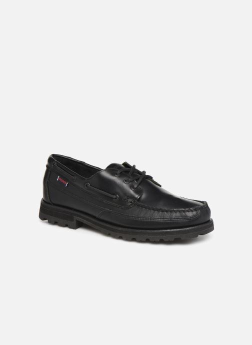 Chaussures à lacets Sebago Vershire Three Eye Fgl Noir vue détail/paire